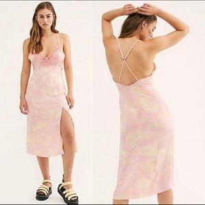 NWT Free People Chasing Shadows Slip Dress